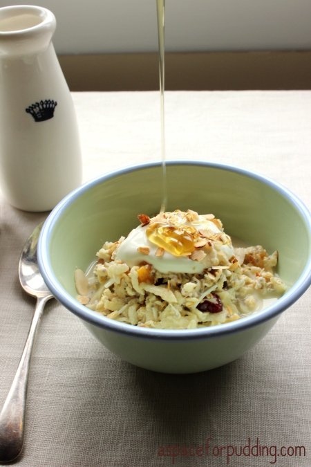 original bircher honey drizzle